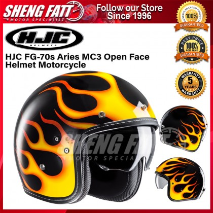 HJC FG-70s Aries MC3 Open Face Helmet Motorcycle