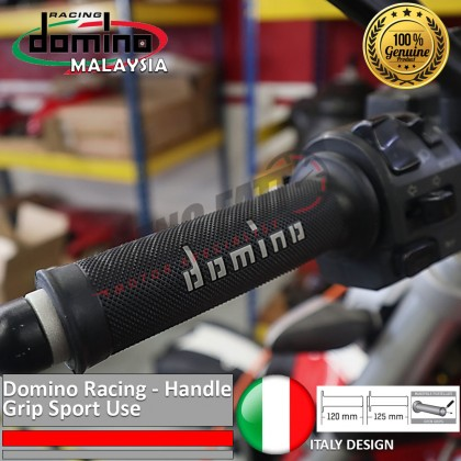 "Domino Universal Handle Bar 7/8"" Motorcycle Racing Throttle Grips MotoGP handlebar Grey [ORIGINAL]"