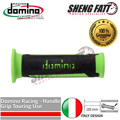 "Domino Universal Handle Bar 7/8"" Motorcycle TURISMO Touring Throttle Grips MotoGP handlebar Green [ORIGINAL]"