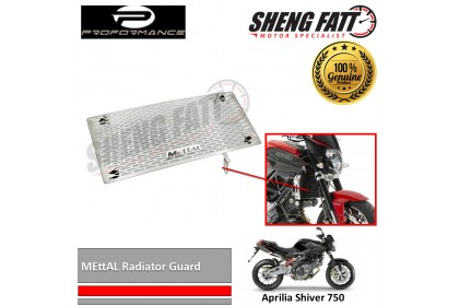 Aprilia Shiver 750 MEttAL Radiator Guard by Proformance (RCA01-11SV)