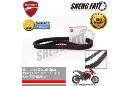 Ducati Hypermotard 821 Genuine Ducati Spare Parts Cam Timing Belts Set 73740251A - 1 PCS [ORIGINAL]