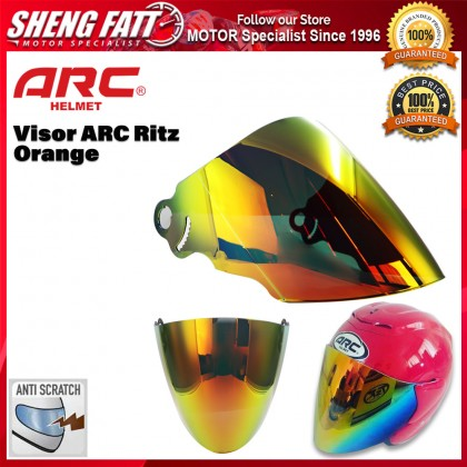 ARC Ritz Visor Helmet Black Smoke / Blue / Green /  Orange / Rainbow Helmet Motorcycle [ORIGINAL]