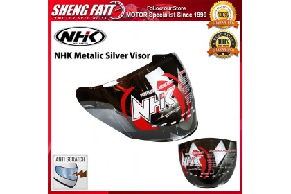 NHK Visor for R1 Smoke Metallic Silver Helmet Motorcycle