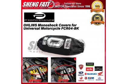 Performance Monoshock Covers for Universal Motorcycle FCR04-BK