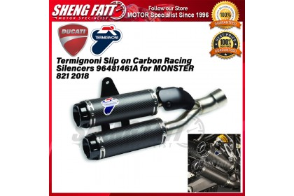 Termignoni Slip on Carbon Racing Silencers 96481461A for MONSTER 821 2018  - [ORIGINAL]