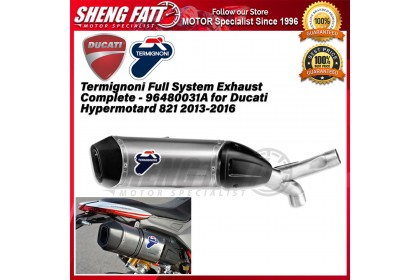 Termignoni Full System Exhaust Complete - 96480031A for Ducati Hypermotard 821 2013-2016 - [ORIGINAL]