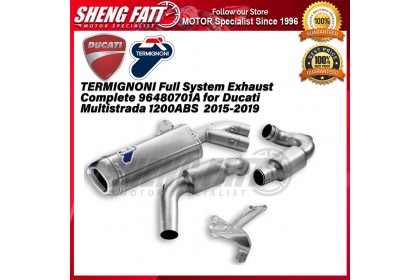 TERMIGNONI Full System Exhaust Complete 96480701A for Ducati Multistrada 1200ABS  2015-2019 - [ORIGINAL]