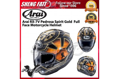 Arai RX-7V Pedrosa Spirit Gold  Full Face Motorcycle Helmet