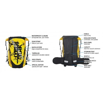 HYPERGEAR DRY PAC PRO GOLD 30L LIMITED EDITION