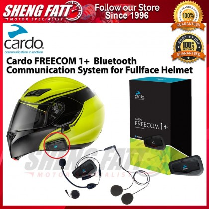 Cardo FREECOM 1+  Bluetooth Communication System for Full Face Helmet