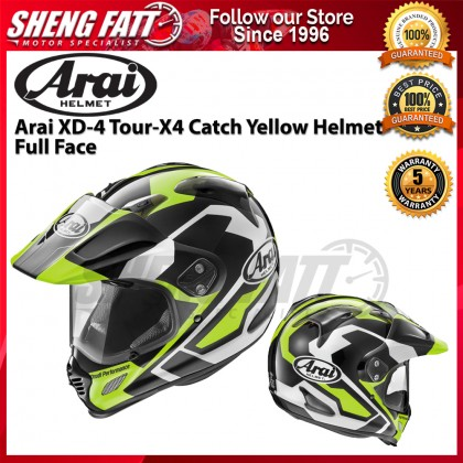 Arai XD-4 Catch TOUR-X4 Yellow Full Face Helmet Motorcycle