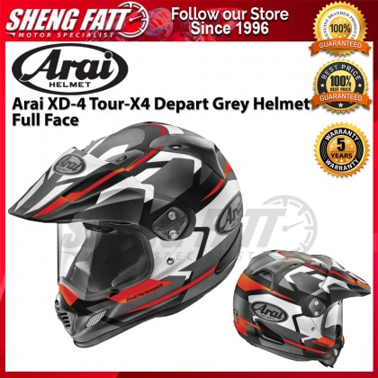 Arai XD-4 Tour-X4 Depart Grey Helmet Full Face